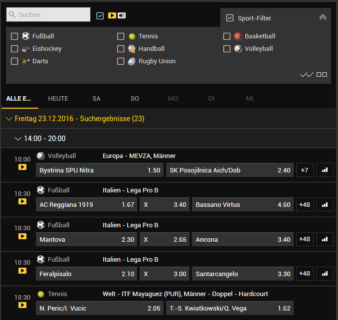 bwin live streams